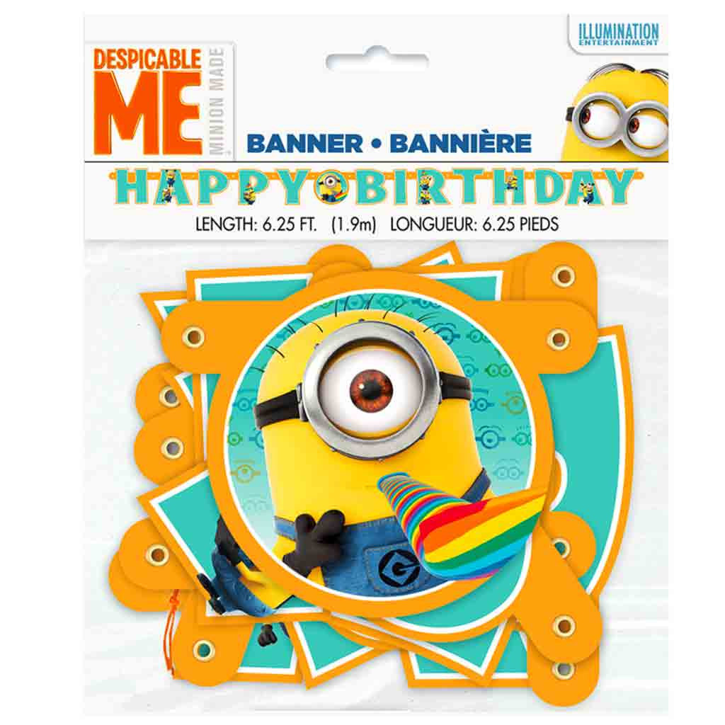 "Buchstabengirlande ""Happy Birthday"" Minion Despicable Me, Minions Kindergeburtstag Partydekoration."