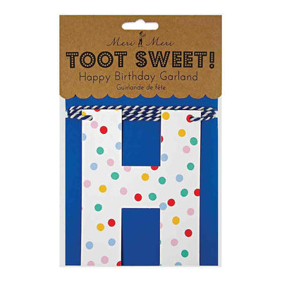 "Toot Sweet ""Spotty"" Geburtstagsgirlande ""Happy Birthday. Von Meri Meri."