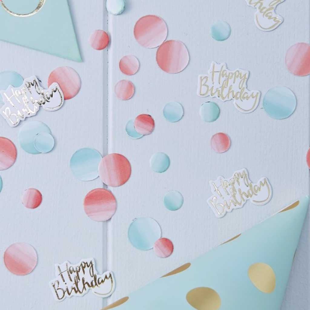 "Konfetti ""Happy Birthday"" Pink Ombre"