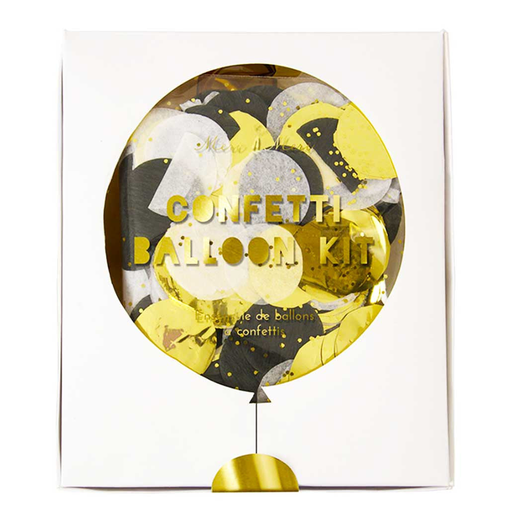 """Toot Sweet"" Konfetti Ballon Kit Gold"