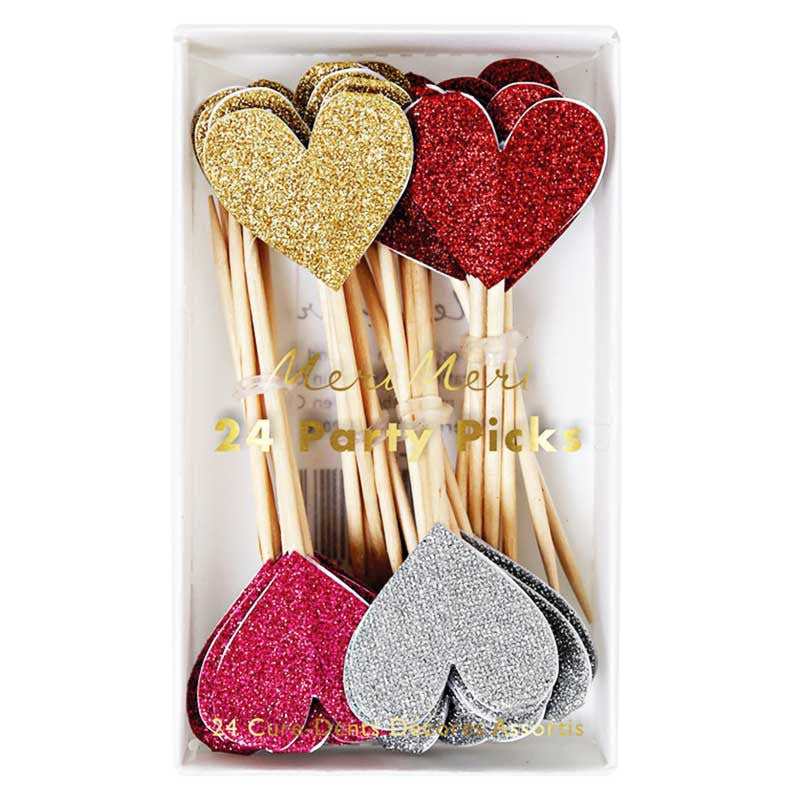 Party Picker Glitter Herzen