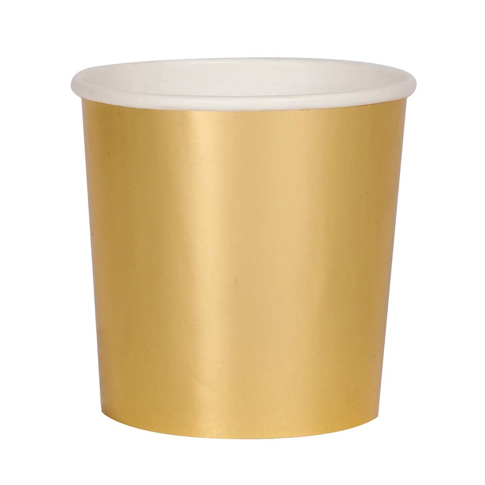 "Pappbecher Gold Metallic ""Tumbler"""