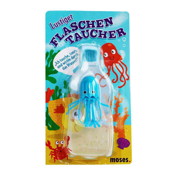 Flaschentaucher Qualle in Blau