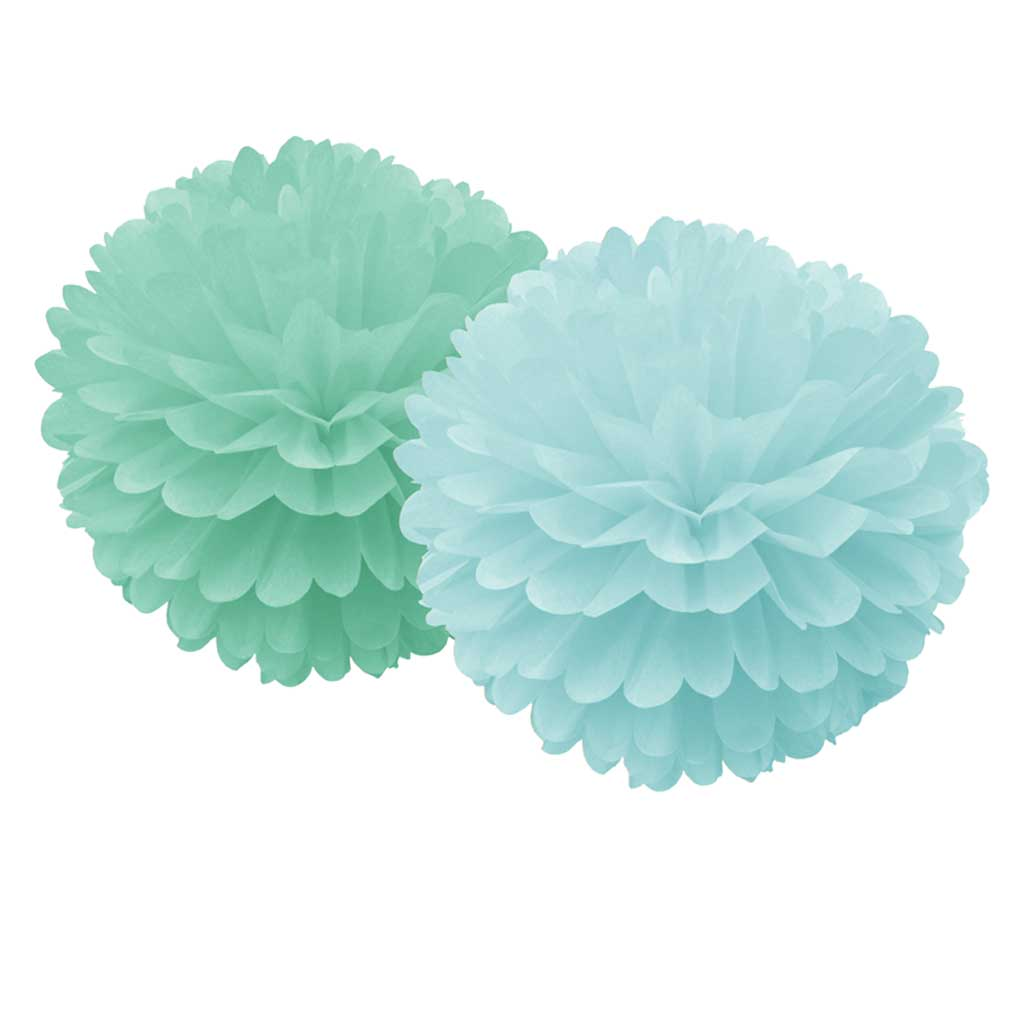 Pom Poms 2er Set in Mint Grün. Von Delight Department.