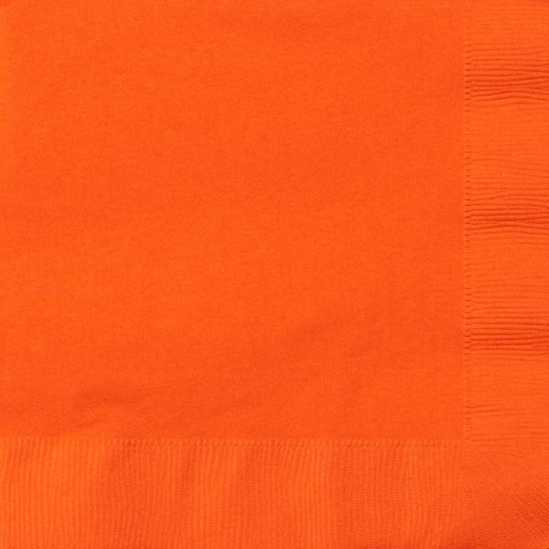 Serviette Orange, 20 Stk., ca. 33 x 33 cm