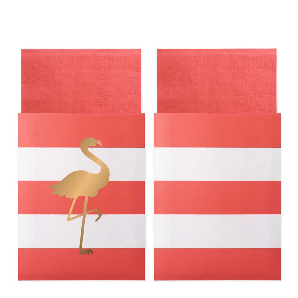 "Servietten in Taschen ""Preppy Flamingo"""