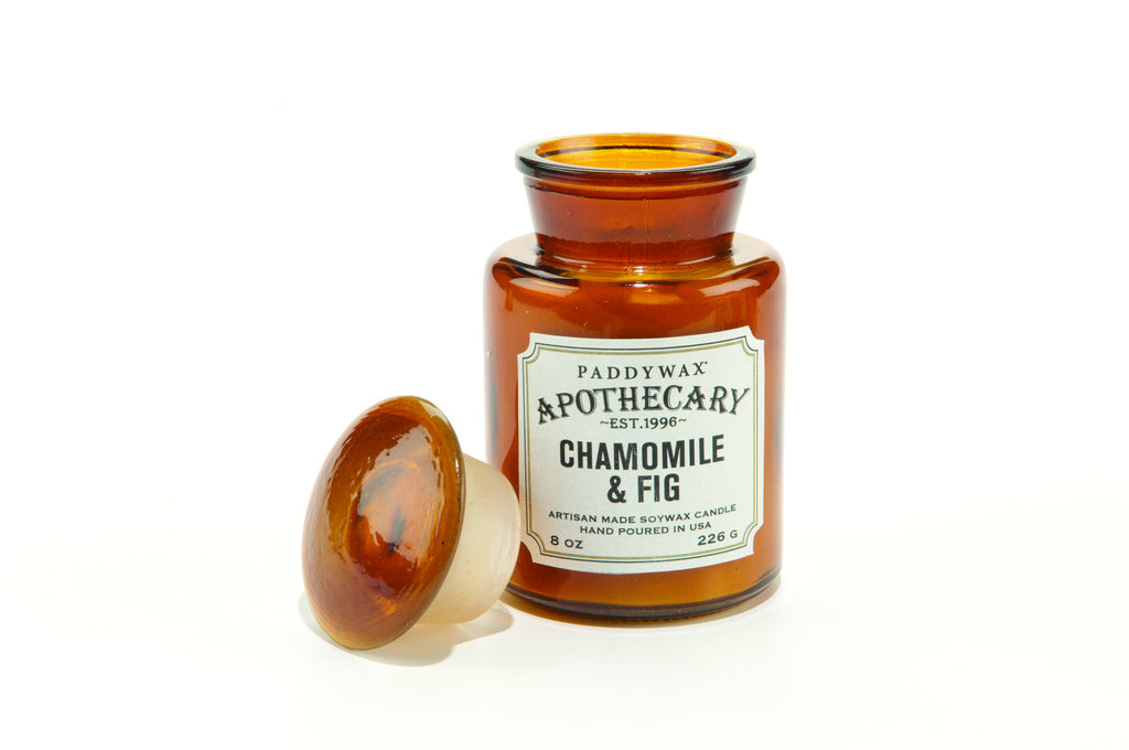 Apothecary Jar Scented Candle - Chamomile & Fig - Montys Vintage Shop - 2