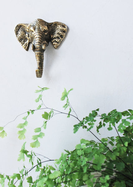 Elephant Brass Coat Hook - Montys Vintage Shop - 1