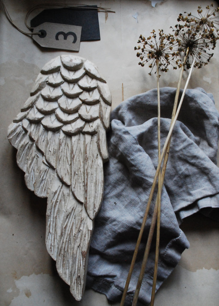 Carved Angel Wings - Montys Vintage Shop - 3