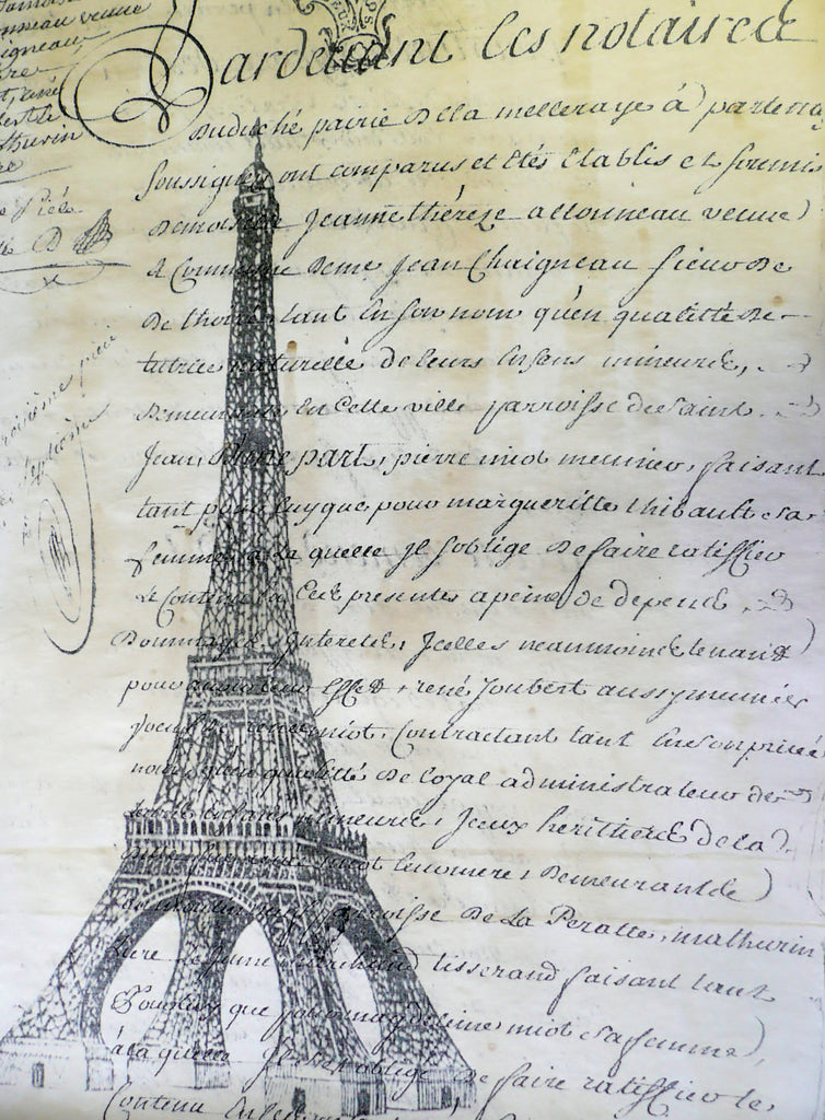 Antique Eiffel Tower Paper - Montys Vintage Shop
