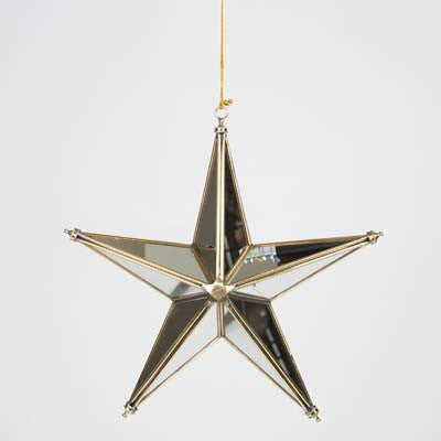 Mirror & Brass Christmas Star - Montys Vintage Shop - 2