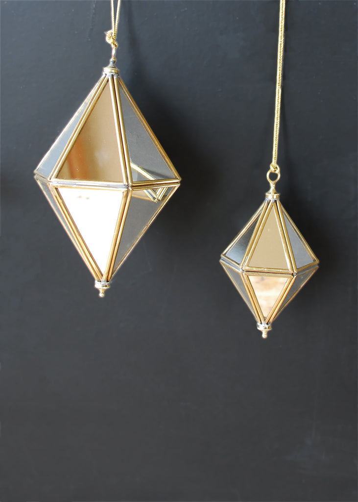 Mirrored Prisms Christmas Decorations - Montys Vintage Shop - 3