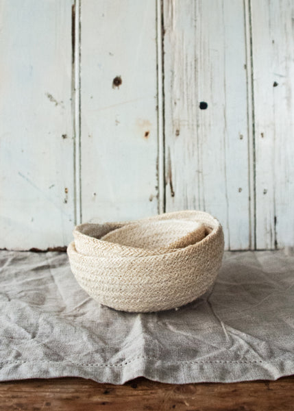 Jute Storage Baskets - Montys Vintage Shop - 1