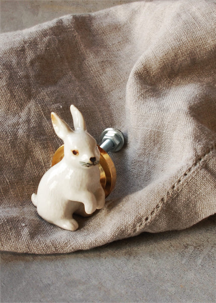 White Rabbit Cupboard Knob - Montys Vintage Shop - 1