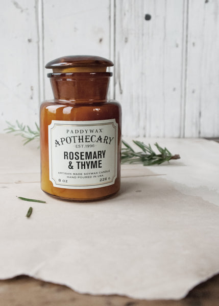 Apothecary Jar Scented Candle - Rosemary & Thyme - Montys Vintage Shop - 1