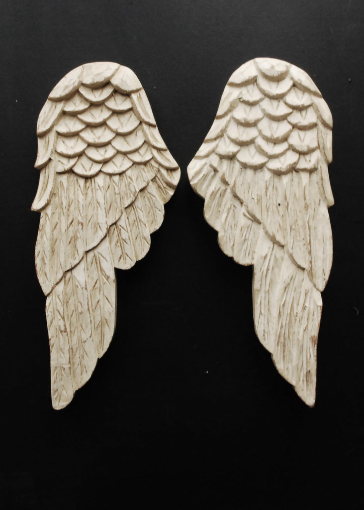 Carved Angel Wings - Montys Vintage Shop - 2