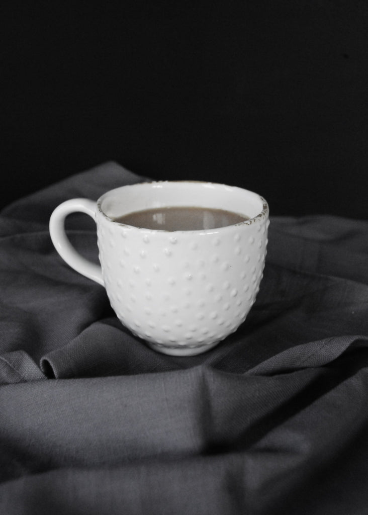 White Textured Mug - Montys Vintage Shop - 4