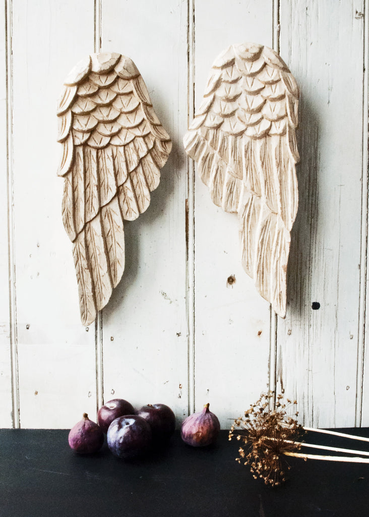 Carved Angel Wings - Montys Vintage Shop - 1