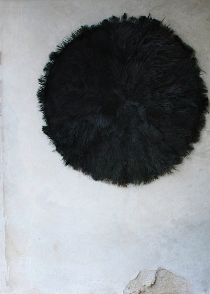 Black Feather Wall Hanging - Montys Vintage Shop - 1