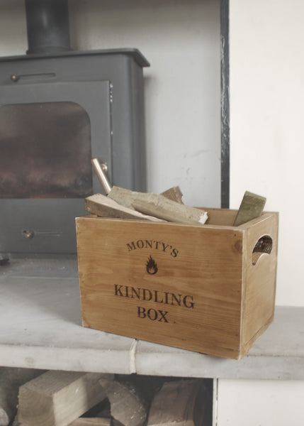 Personalised Vintage Kindling Box - Montys Vintage Shop - 1