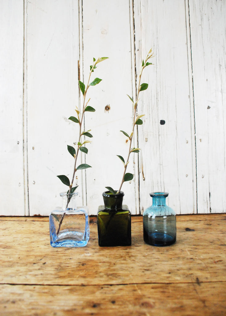 Little Glass Bottle Vases - Montys Vintage Shop - 2