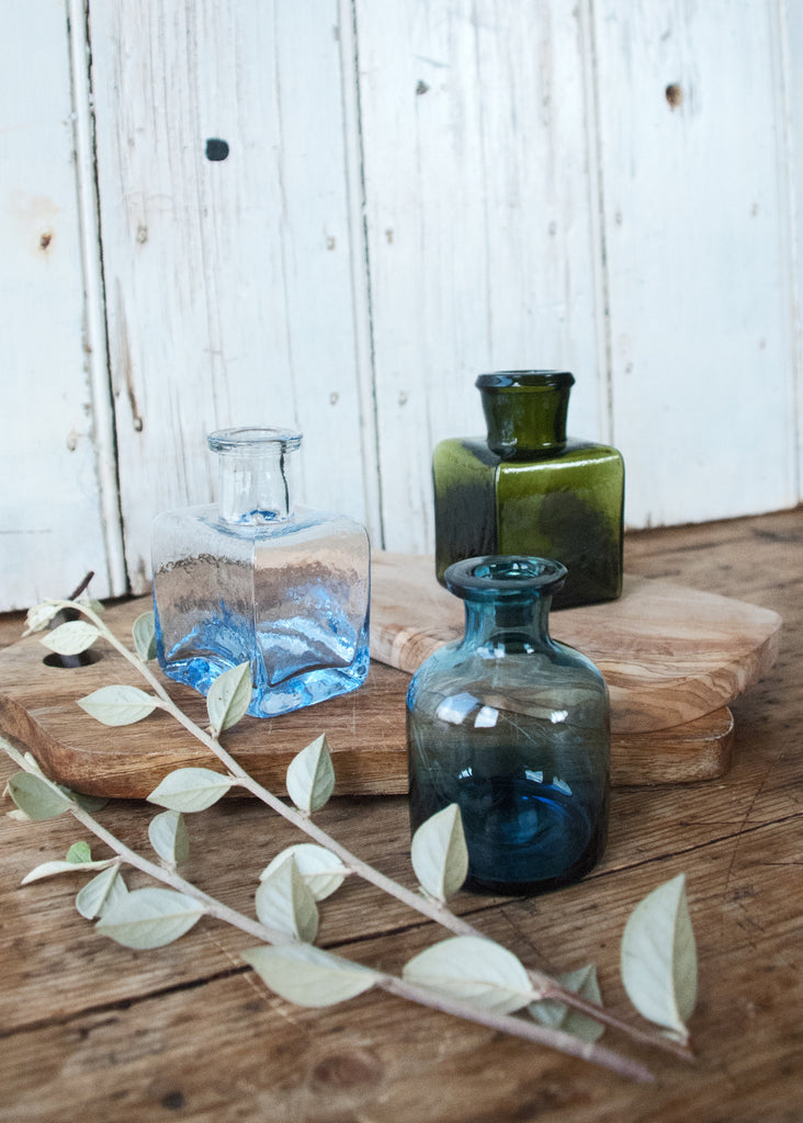 Little Glass Bottle Vases - Montys Vintage Shop - 3