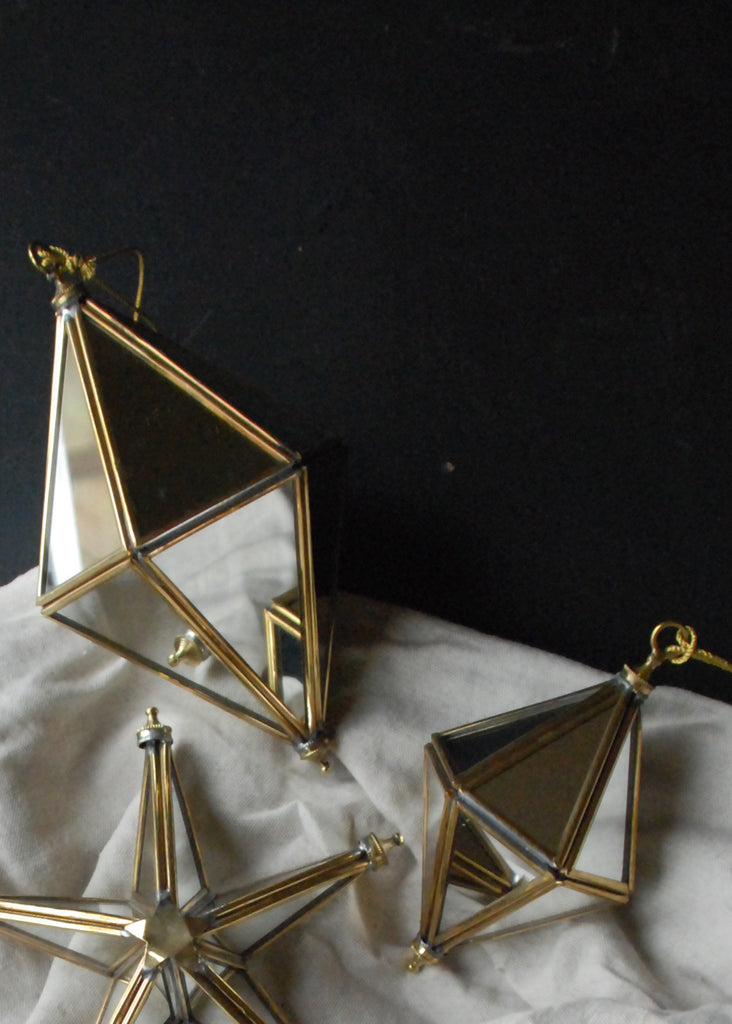 Mirrored Prisms Christmas Decorations - Montys Vintage Shop - 2