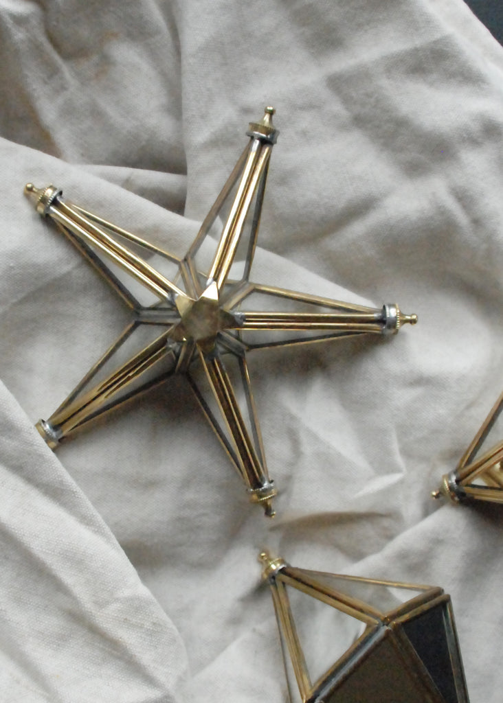 Mirror & Brass Christmas Star - Montys Vintage Shop - 1