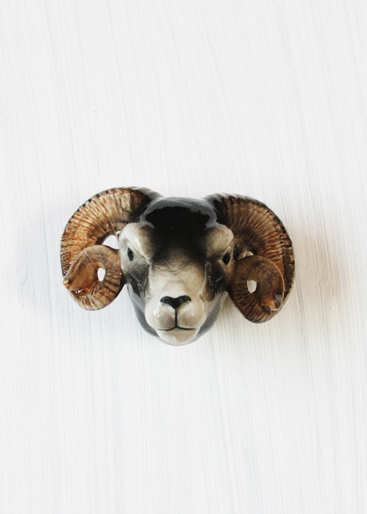 Sheep Head Door Knob - Montys Vintage Shop - 1