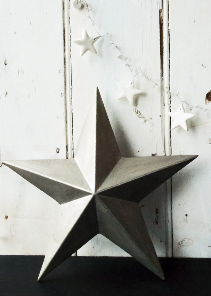 Wooden Silver Star - Montys Vintage Shop - 3