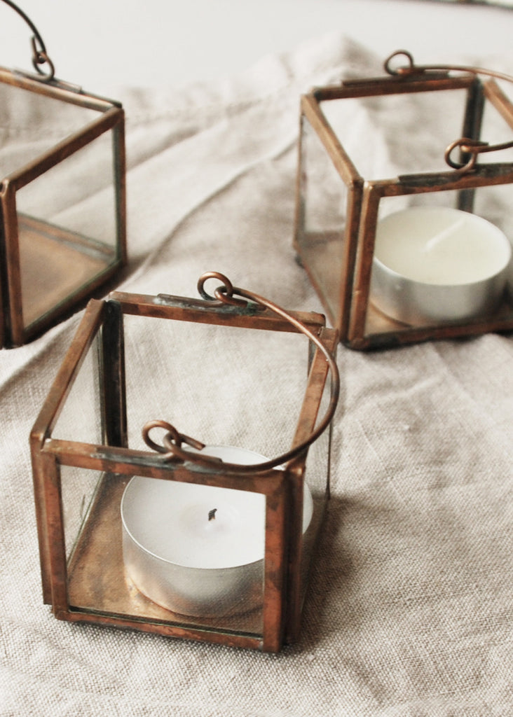 Antique Copper Tea Light Holder - Montys Vintage Shop - 3