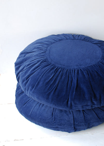 Boho Velvet Cushion in Deep Blue - Montys Vintage Shop - 1