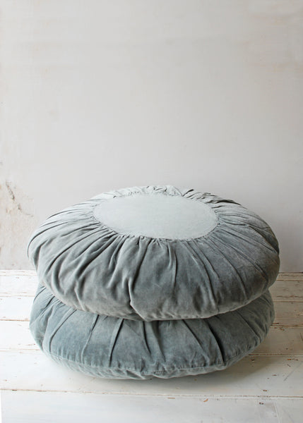 Boho Velvet Cushion in Pale Blue - Montys Vintage Shop - 1
