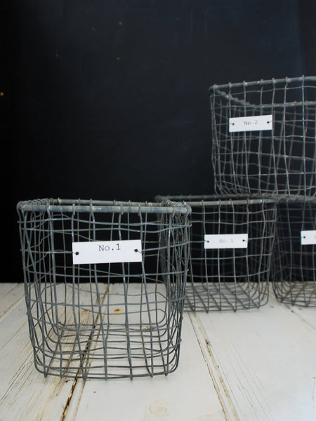 Metal Storage Baskets - Montys Vintage Shop