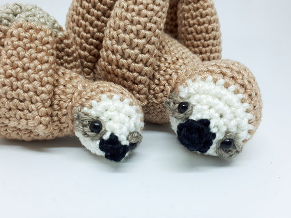 Mother & baby sloth stuffed toys