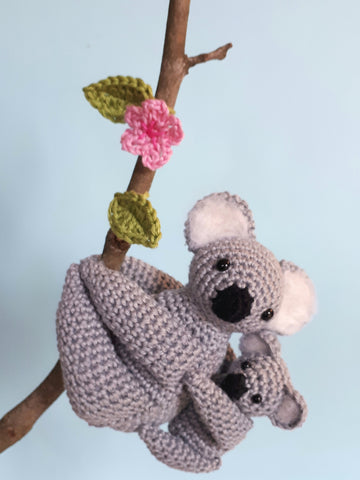 Koala bear stuffed animal crochet plush