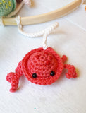 Under the sea baby mobile, mermaid and sea creatures nursery decor - Crochet on a tree