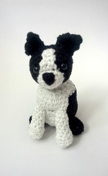 Crochet Boston Terrier, Boston Terrier stuffed animal