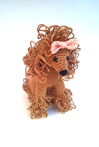 Crochet poodle, poodle stuffed animal, amigurumi poodle