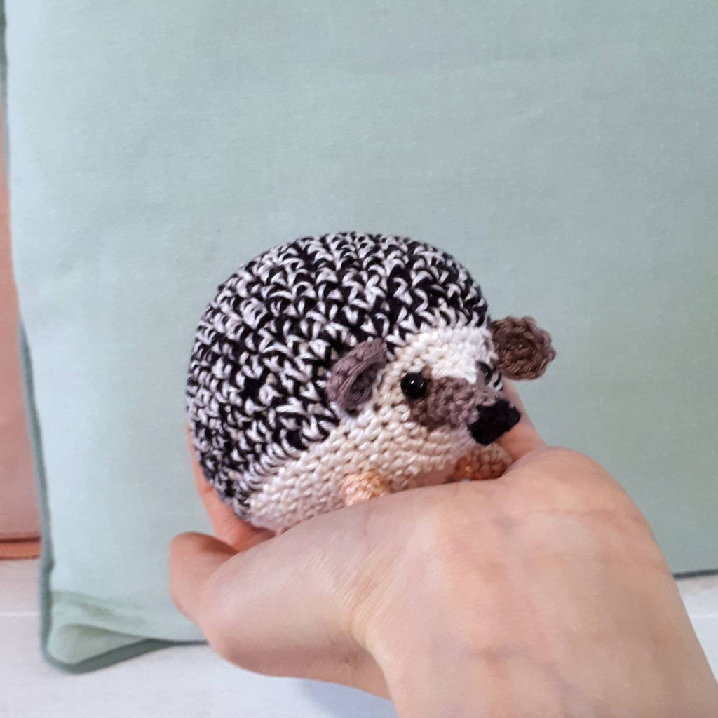 Hedgehog stuffed animal crochet plush - Crochet on a tree