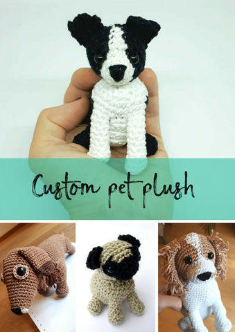 Custom pet memorial plush, personalized dog gift