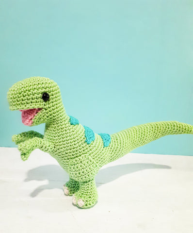 Theo the T-Rex  dinosaur crochet plush toy