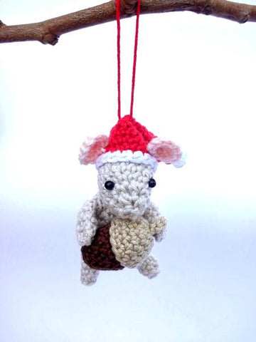 Christmas mouse ornament