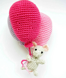 Balloon with mouse decoration - Crochet on a tree