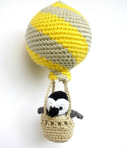 Hot air balloon with penguin decoration