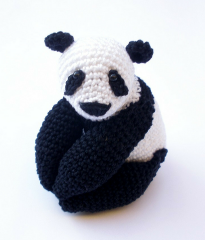 Panda amigurumi stuffed plush