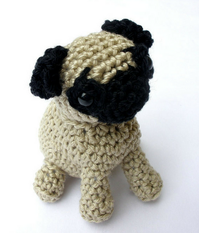 Pug stuffed toy