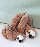 Mother & baby sloth stuffed toys - Crochet on a tree