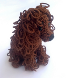 Crochet Cockerspaniel - Crochet on a tree