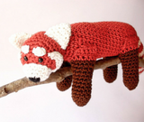 Red panda stuffed plush - Crochet on a tree